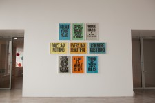 Anthony Burrill, Woodblock poster series, 2004-2011